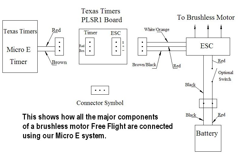 how to install your texas timers brushless motor timer the optional switch shown in the battery red wire line is no longer suggested the switch adds too much loss